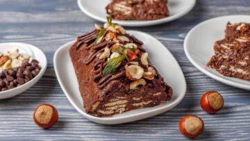 Salam de biscuiți - un dulce ce se pregătește repede și este foarte gustos